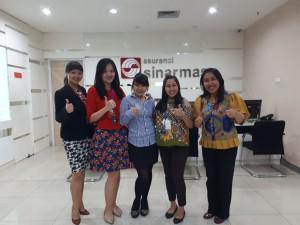 Alumni dan karir center mengunjungi perusahaan Sinarmas, guna menjalin kerjasama antara Universitas bunda Mulia dengan Sinarmas