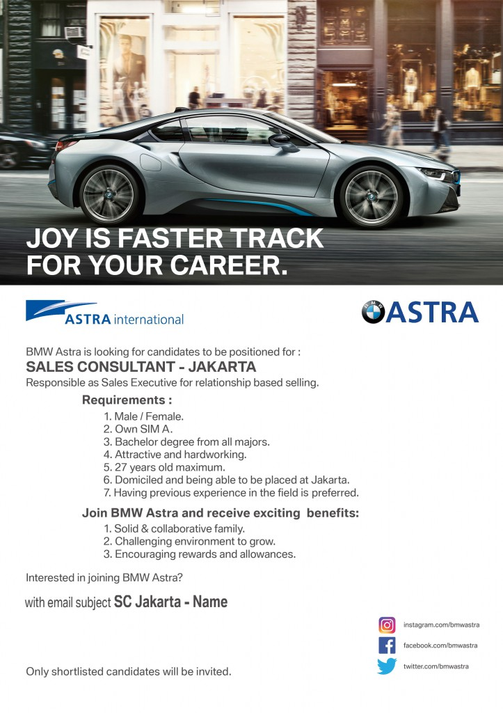 (BMW ASTRA) Sales Consultant website