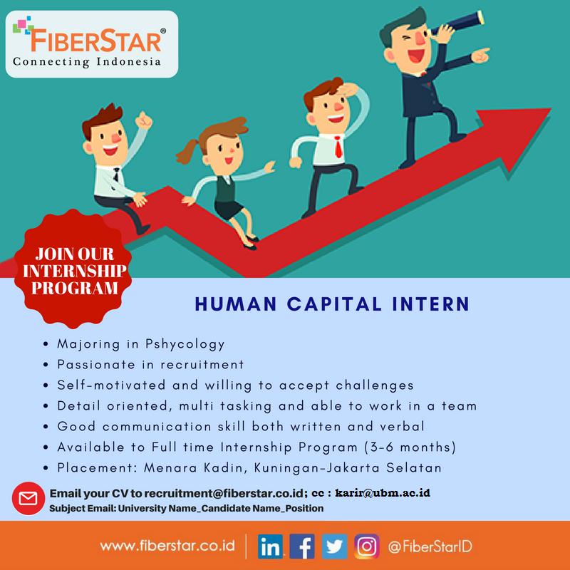 PT Mega Akses Persada (FiberStar) - Poster Human Capital Intern