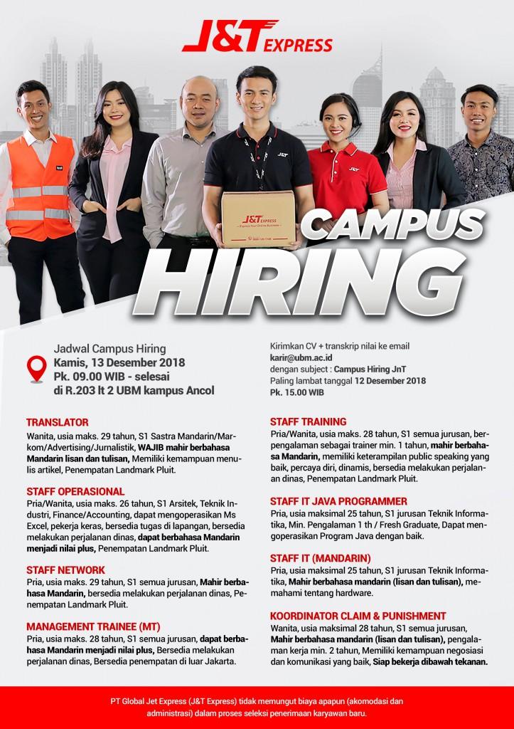 poster Campus Hiring UBM