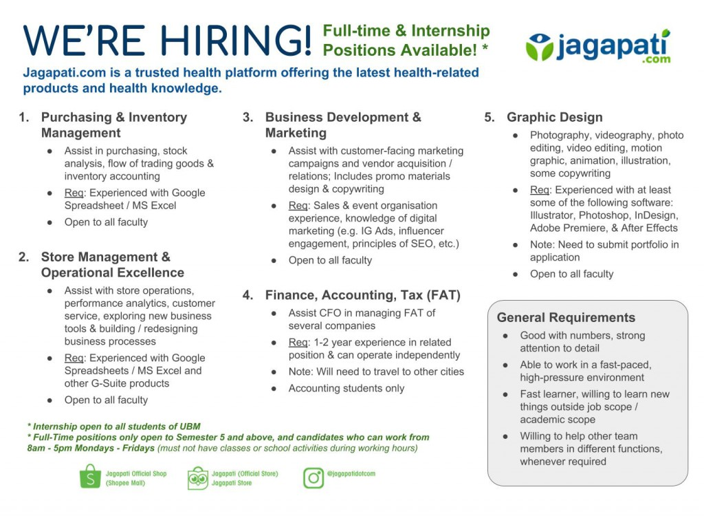 Jagapati X UBM - Materi Job Posting