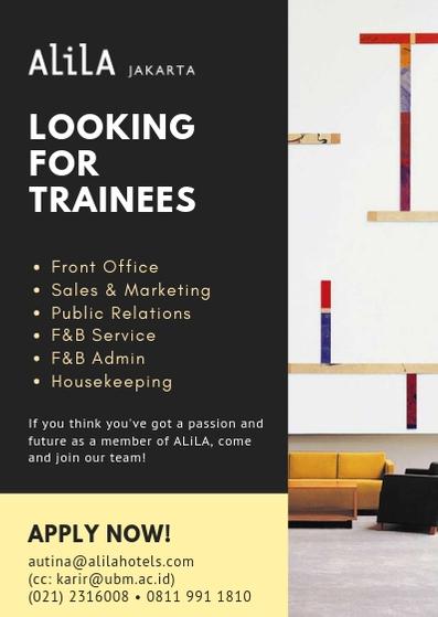 Alila Jakarta - Vacancies for Internship