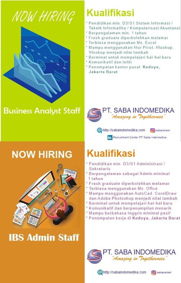 Lowongan Kerja PT Saba Indomedika Website