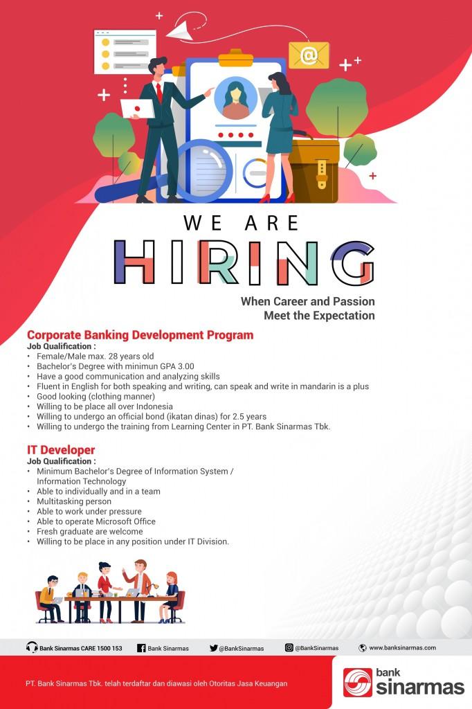 Job Vacancy PT Bank Sinarmas Tbk - UBM