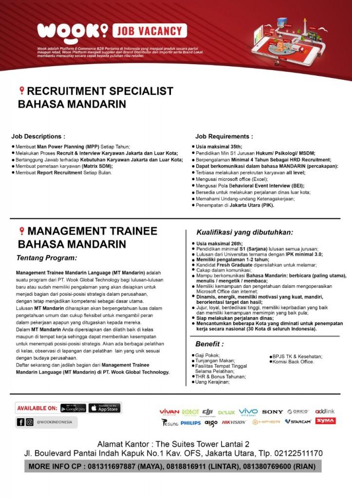 iklan lowongan mt mandarin & recruitment mandarin