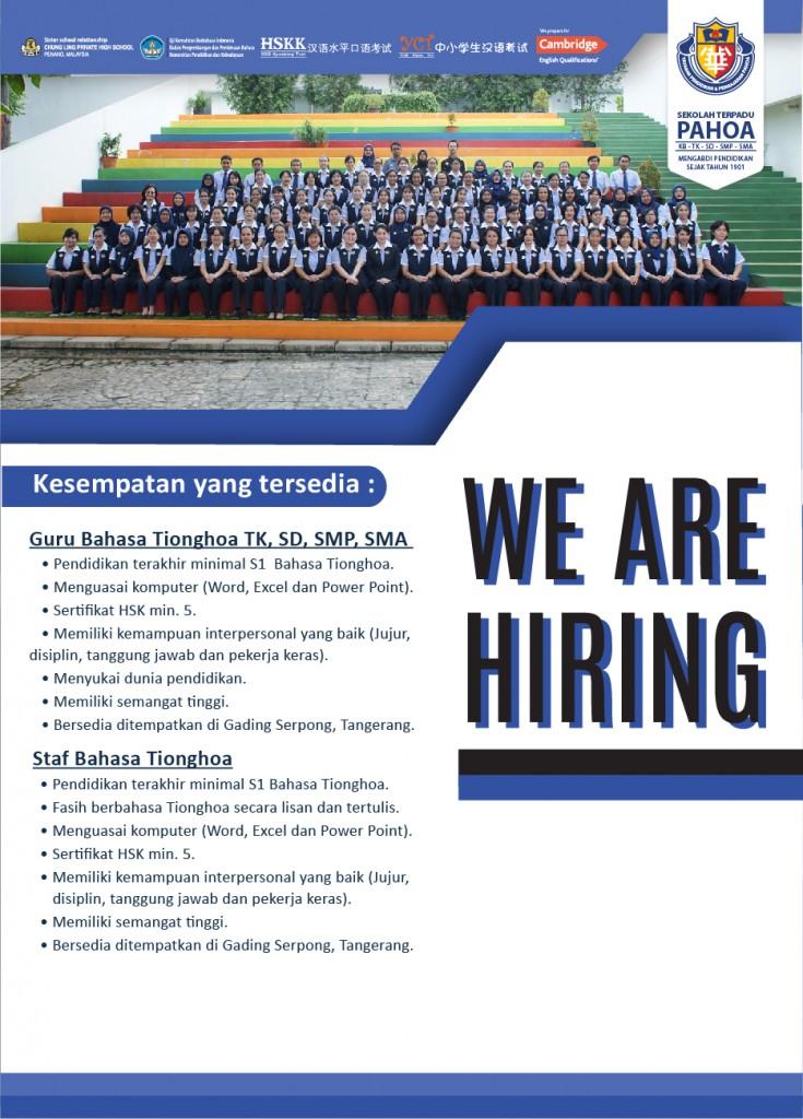 Iklan Lowongan Kerja baru 3  april 2020 hiress-07 (Guru Mandarin)