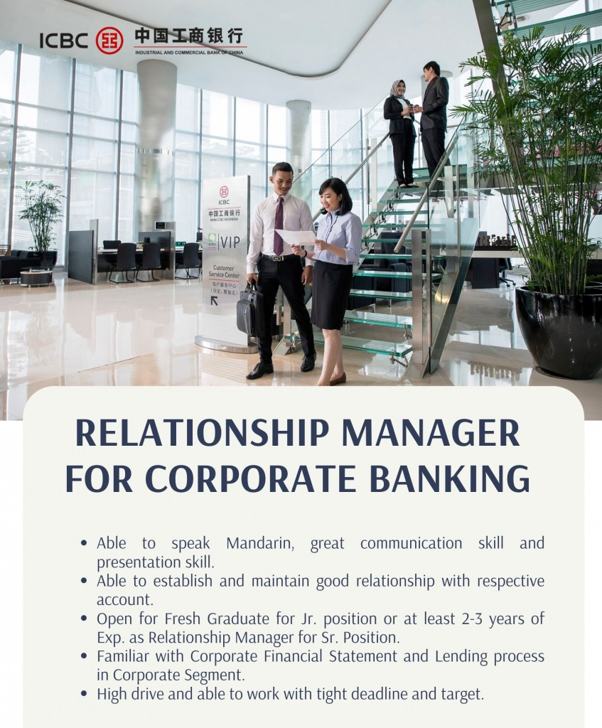 Relationship Manager - Corporate Banking II Department