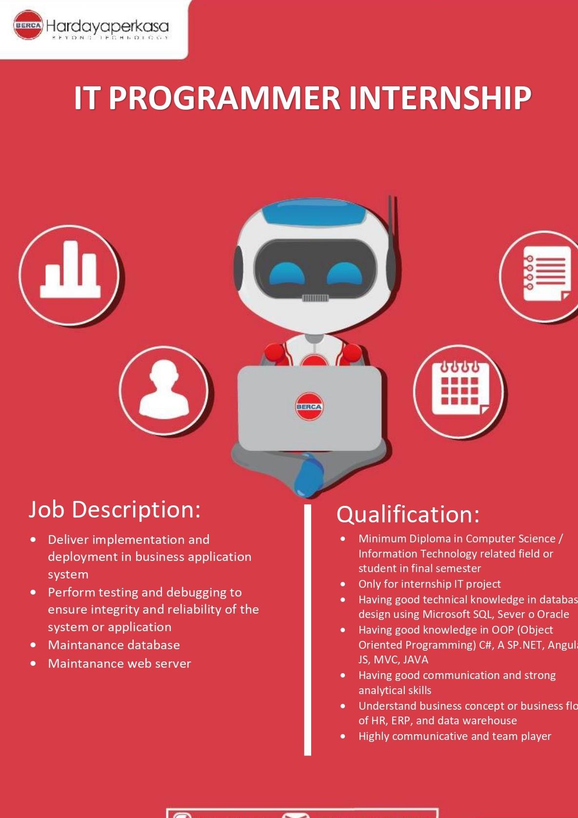 Poster Internship IT Programmer