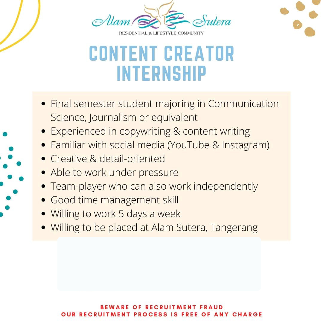 Intern Content Creator